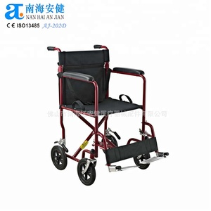 companion transit disabled light weight superlite aluminum or steel push wheel chair