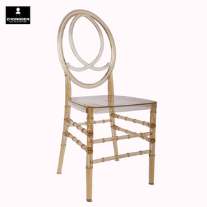 Transparent Clear Amber Chiavari Ghost PC Plastic Resin Phoenix Chair