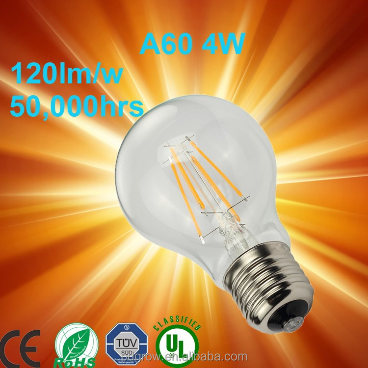 PD Lamp LED light bulbs 6W frosted glass Tungsten filament bulb A19 A55 A60 mini LED Filament balloon light