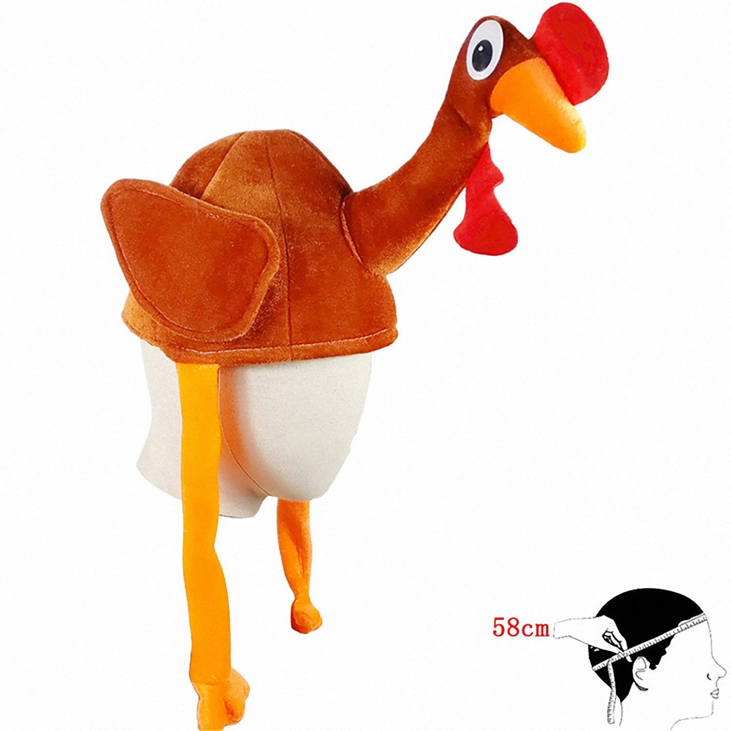 Smakke New 1Pc Adult Child Cute Chicken Head Mask Plush Rooster Hat Farm  Animal Bird Party ed8ab48bc606