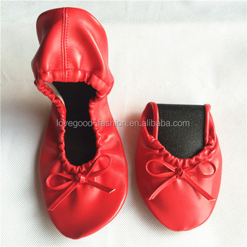 882488d83fb Wedding Folding Shoes Leather Foldable Ballet Flats With The Carrying Case  For Wedding Guests