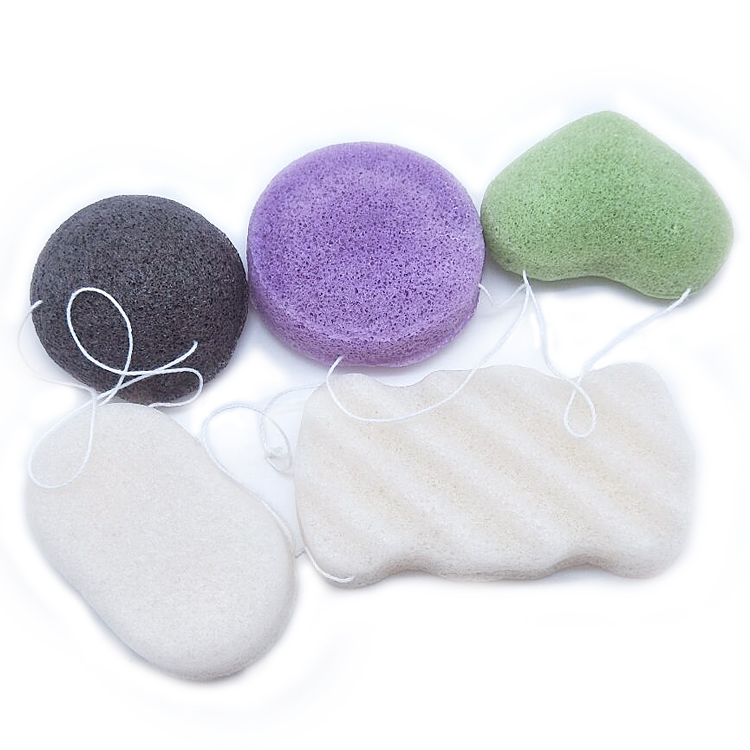 Hot Selling Different Colors and Shapes Konjac Sponge Wholesale