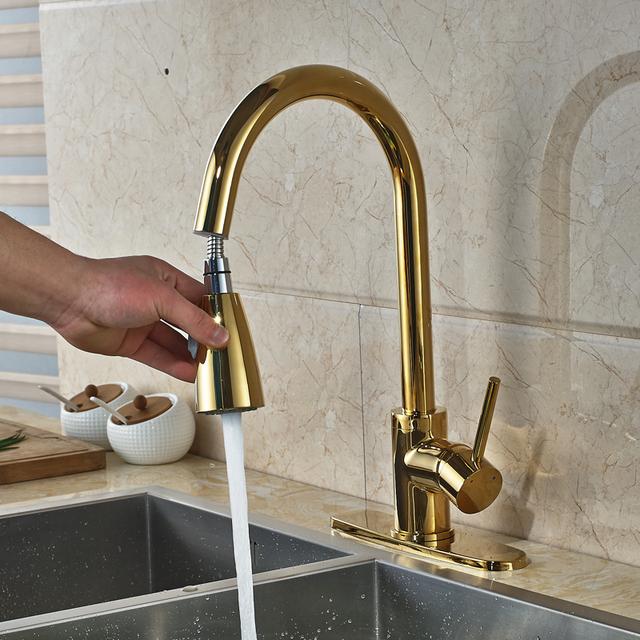 Brass Kitchen Sink Digital Display Faucets Kitchen Mixer