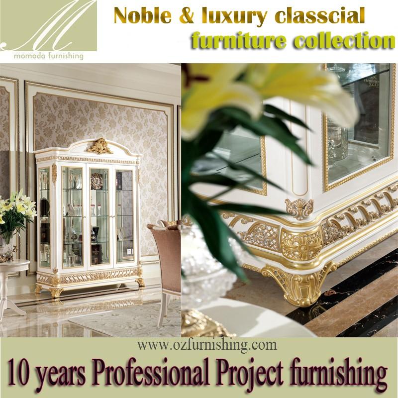 yb62-2 di lusso in stile francese foglia oro sala da pranzo mobili ... - Mobili Soggiorno Di Lusso 2