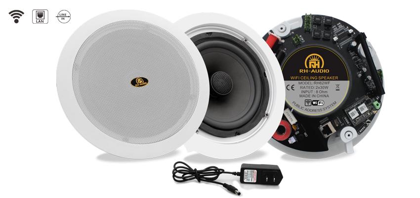 Rh Audio Wifi Wireless Smart Ceiling Speaker With Rj45 Port For Multiroom Audio System Buy Ceiling Mount Wireless Speakers Ceiling Speaker With