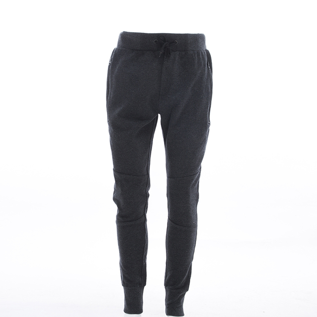 Mens Cotton Polyester Sport Black Stretch Sweat Pants