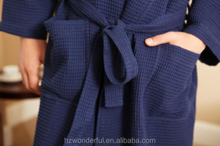 Cotton Waffle Dressing Gown. Cotton Waffle Fabric Bathrobe Hotel ...