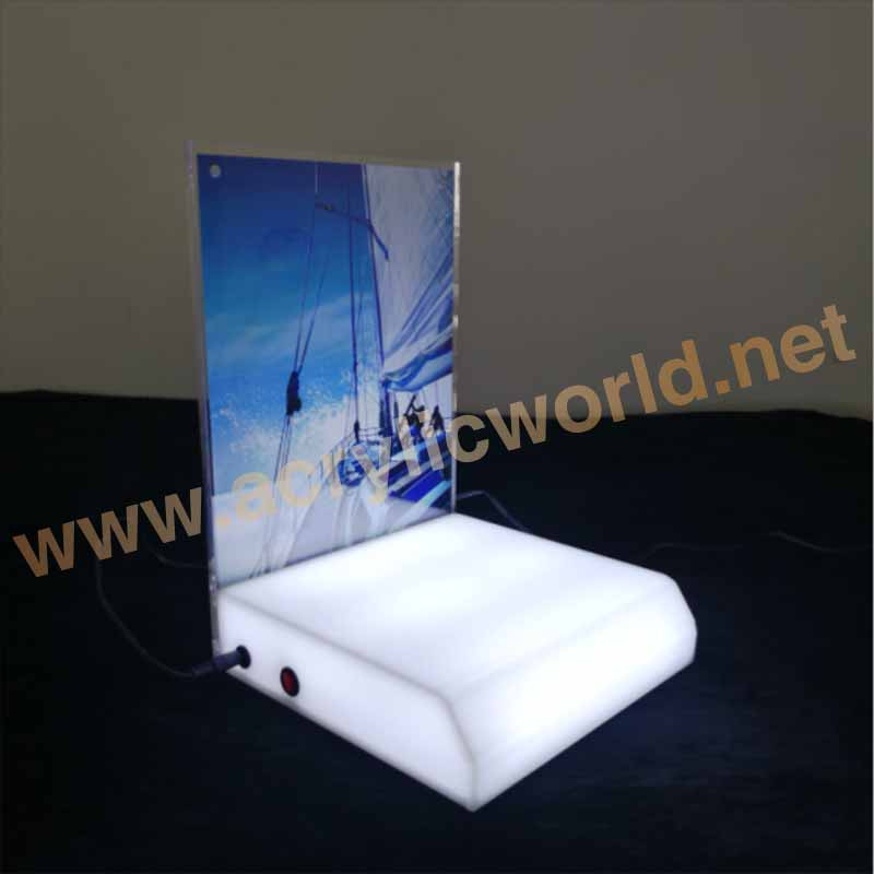 high quality acrylic light boring knife display/led gun drill display stand