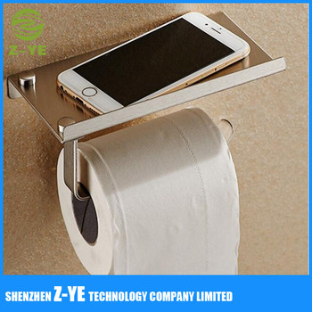 Strong Adhesive Toilet Paper Holder For Roll Less Phone