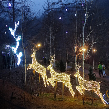 3d giant led christmas reindeer moose for outdoor decoration