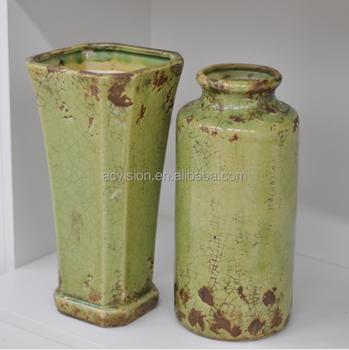Antique Vase Jingdezhen Porcelain Ceramic Flower Vases Blue And