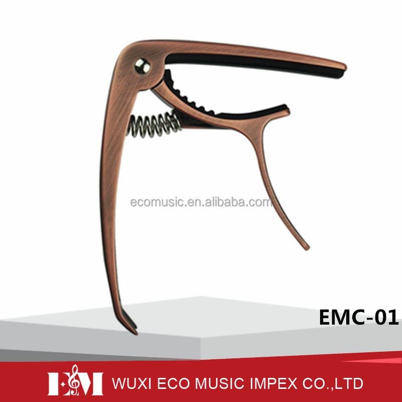 Guitar Capo for 6 String Acoustic and Electric Guitars, Bronze