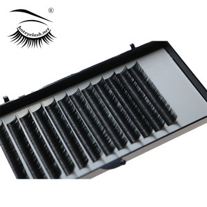 Faux Mink Hair 100% Human Hair Natural False Eyelash Extensions Black