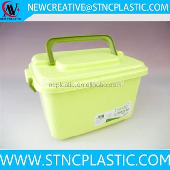 Plastic Cd Storage Organizer Plastic Storage Box With Handle 13L