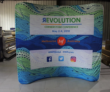 Custom Exhibition Stands Melbourne : Custom exhibition show display aluminum tube tension fabric ft