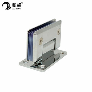 Stainless steel 90 degree bevel edge shower hinge for glass door