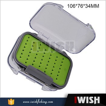 Germany Market Medium Easygrip Green Strong Lock Fishing Tackle Saltwater  Fly Box - Buy Saltwater Fly Box,Fishing Tackle Box,Germany Fly Box Product