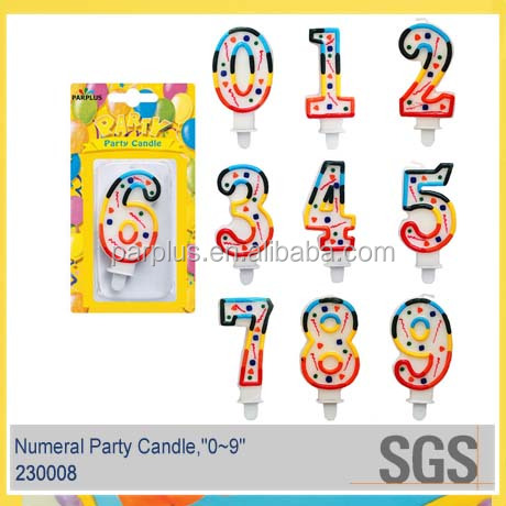 Beautiful Border Number Cake Candle for Kids Party