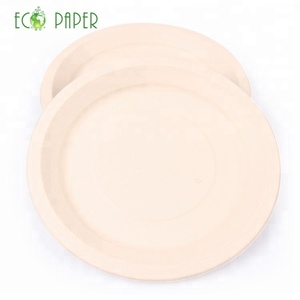 "100% biodegradable and compostable bamboo disposable paper plate 9""oval plate"