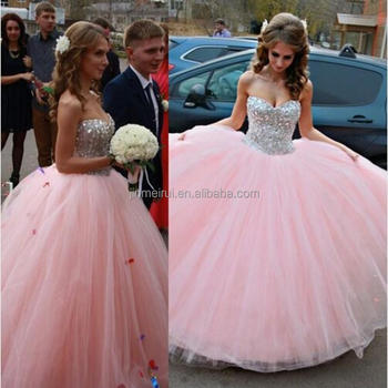 Formal Ball Gown Corset Evening Dresses Sweetheart Beaded Puffy Sweet 16 Quinceanera Dress Custom Made Cheap Long Evening Gowns