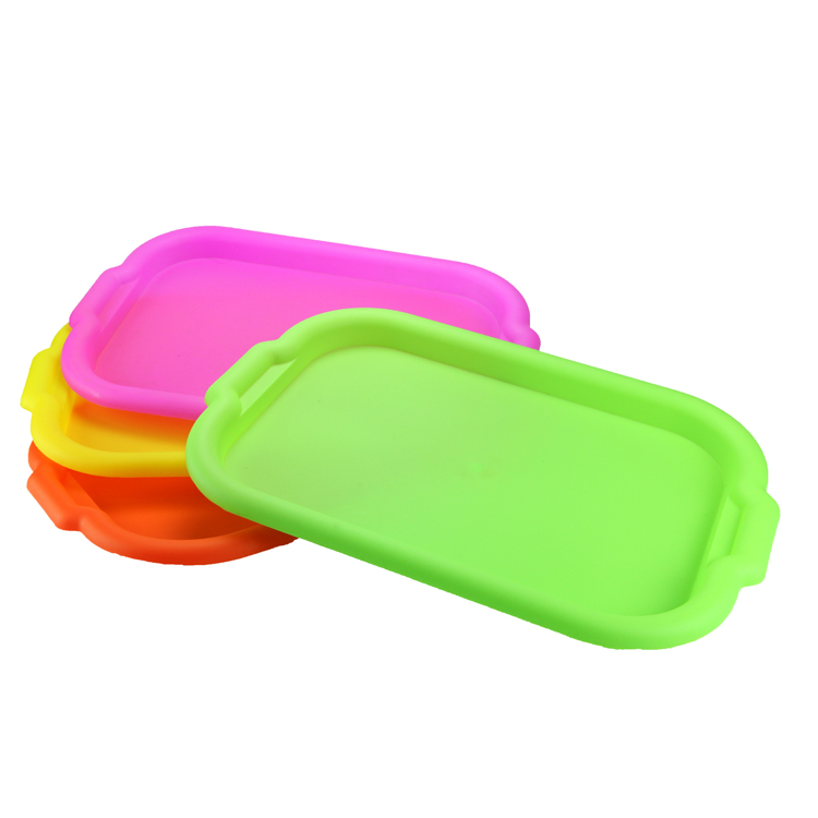 High quality plastic colorful tray, Square food tray