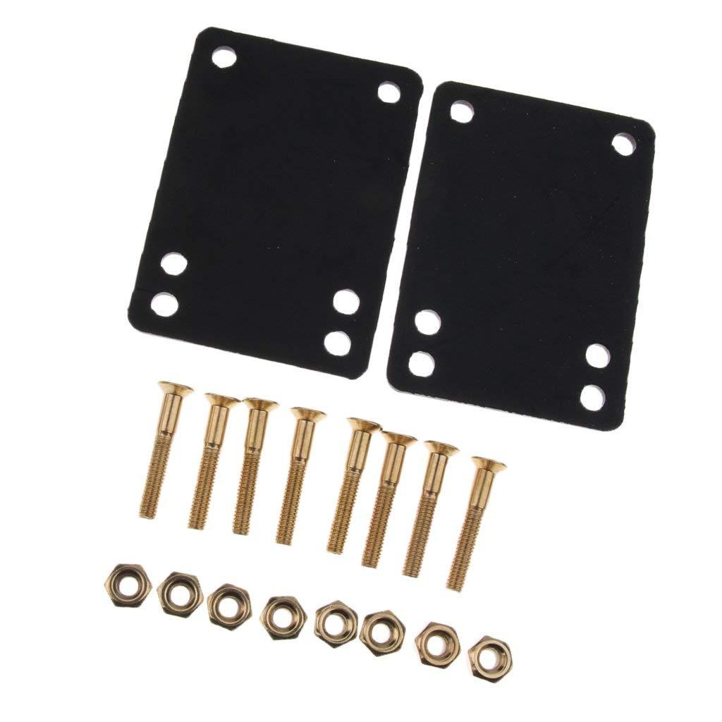 Get Quotations · Baoblaze Skateboard Longboard Hardware Combo 2pcs 3mm  Rubber Riser Pads   8pcs Screws Bolts   8pcs 8d569be5370