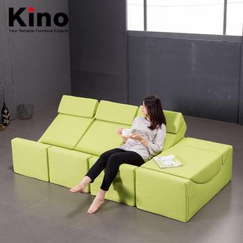 High Density Foam Single Seat Fabric Folding Sofa Bed And Moon Shaped