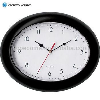 (HC1011) Oval Shape Quanzhou Cheap Kids Room 24 Hour Wall Clock
