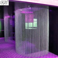 PuJiang fashion crystal beaded curtain for wedding decoration glass curtain