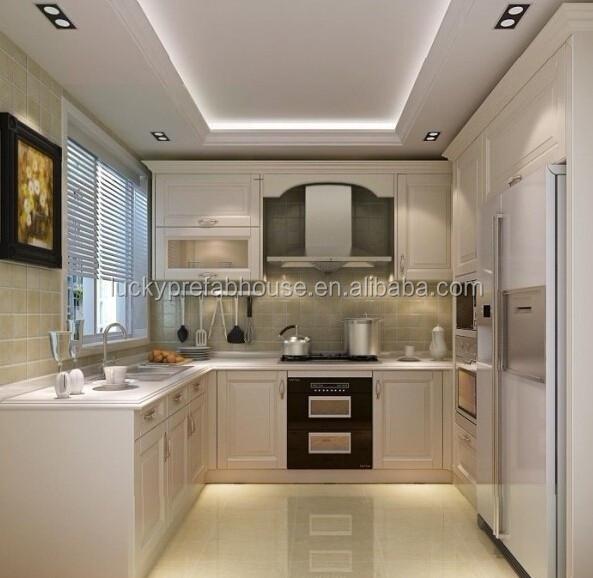 Luxe appartement meubels wit marmer keuken kast meubilair/keuken ...