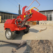 Hot selling self power factory manufacture 50hp wood chipper diesel