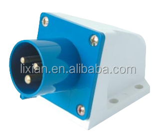 220-240V Single phase 3 Flat Pin utensil socket CE LX-513/523 16/32A 3P straight industrial Safety ip44 <strong>Plug</strong>
