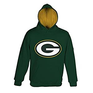 """NFL Youth Boys 8-20 Green Bay PACKERS """"PRIMARY"""" PULLOVER HOODIE -TMC Hunter S (8)"""