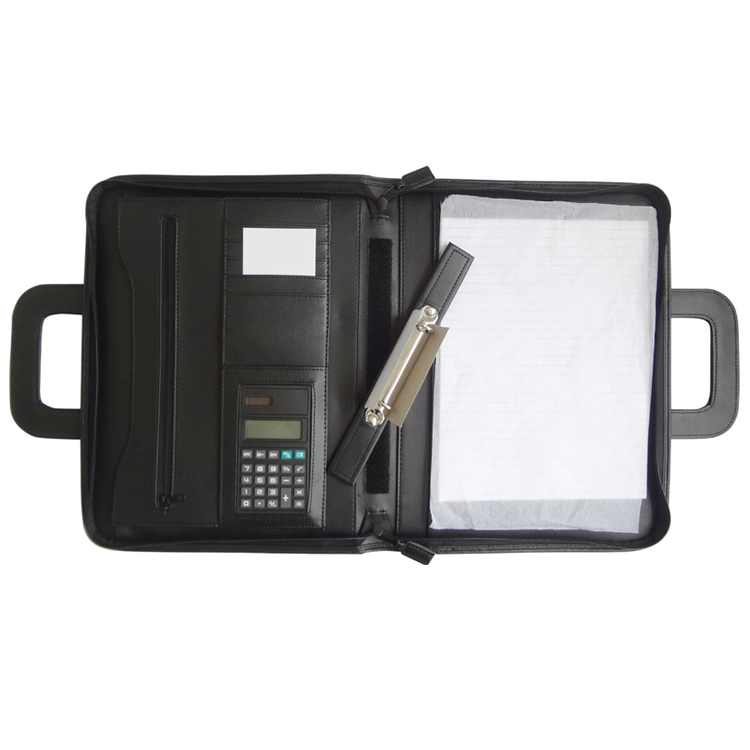 Multifunctionele decoratieve PU leer document padfolio a4 executive bestandsmap
