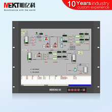 "Rack type 15 ""17"" 19 inch capacitieve touchscreen monitor panel waterdichte led/touch screen display"