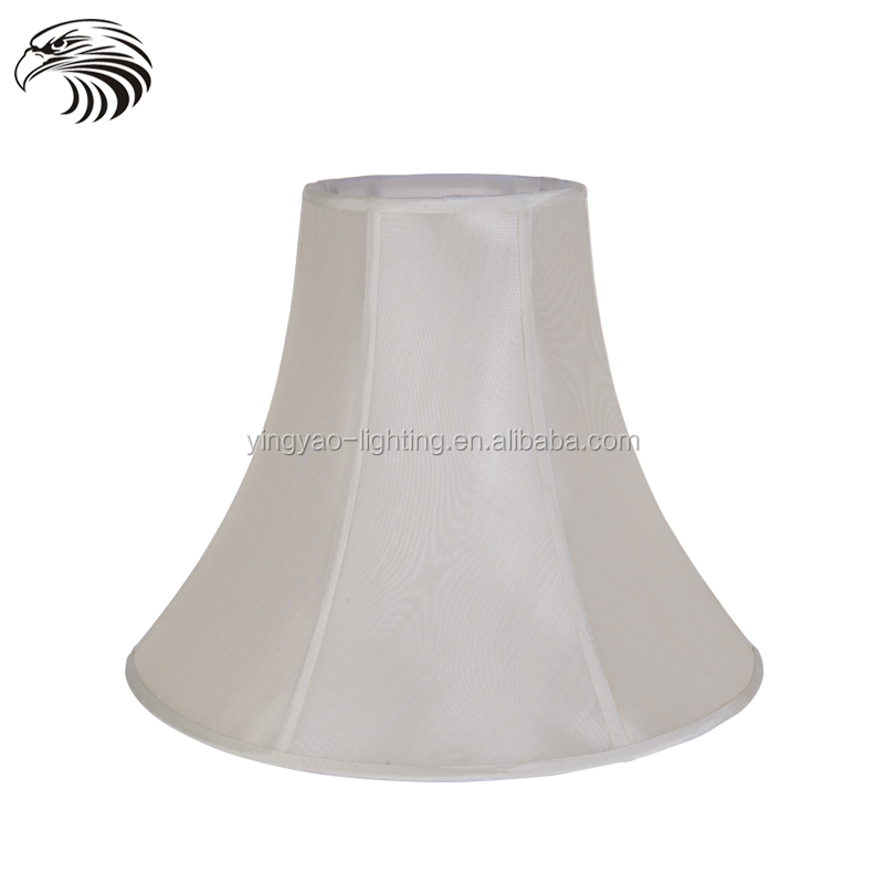 China good quality cone Polyester fabrics and Iron wire Court lamp shade