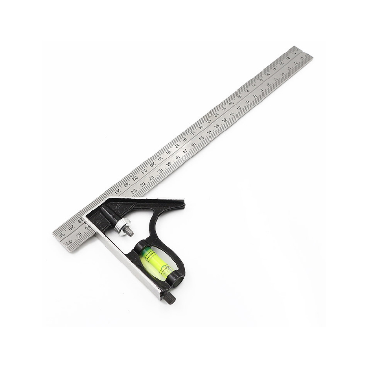300mm sliding adjustable woodworking Combination square Set Right Angle Ruler stainless steel
