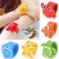 Cute Cartoon Animals 100% Natural Anti Mosquito Wristband Silicone Mosquito Repellent Bracelet for Children