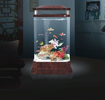 Acrylique vertical aquarium buy product on for Acquari design vendita