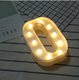 Custom romantic decoration arabic numbers hashtag heart plastic led marquee lights frames for decoration