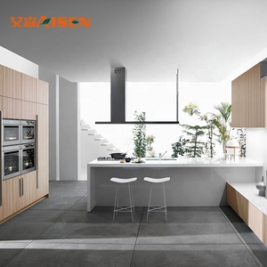 Plastic PVC Door Laminate Kitchen Cabinet