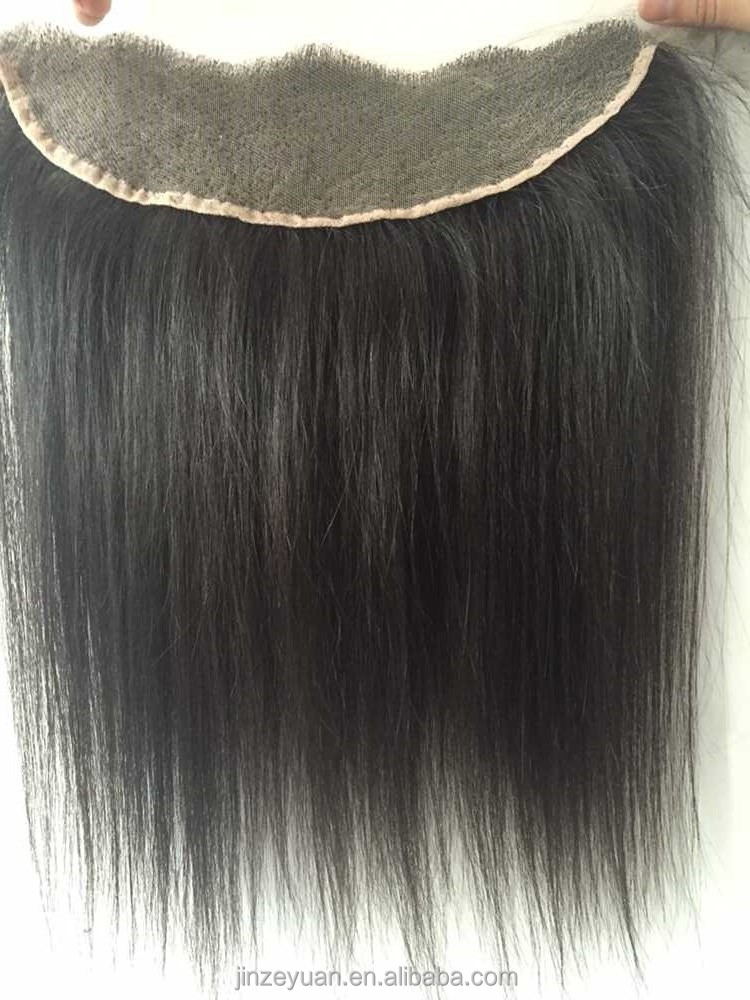 Brazilian human hair 10'' Lace frontal closure with baby hair