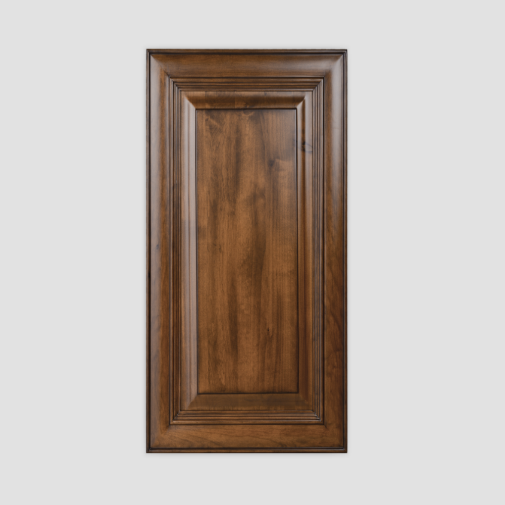 Brown Finished Wooden Customized Door Panel for Kitchen Cabinet