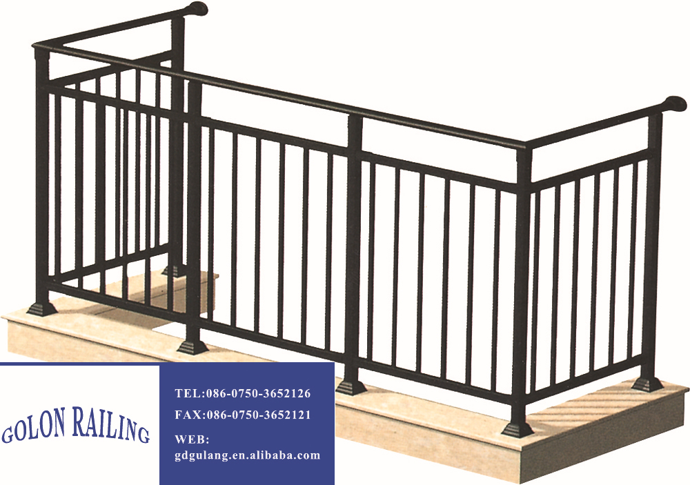 Rust proof assembled galvanized steel pipe balcony railing for Balcony handrail