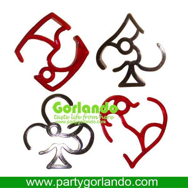 Deco VINTAGE poker Charms party Cocktail Markers