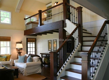 L Shape Staircases With Wrought Iron Balusters Oak Wood Tread