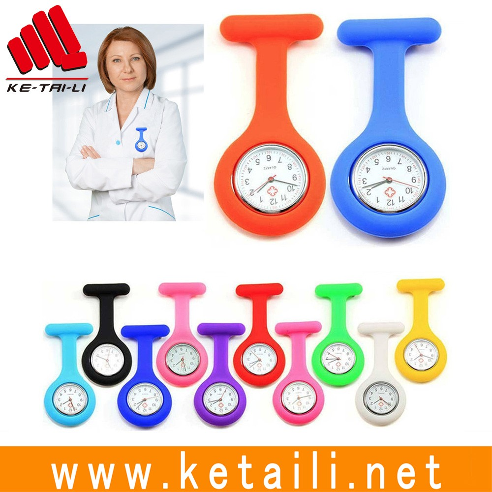 Wholesale fashion design silicone quartz watches for nurses clock