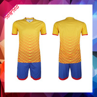 top quality youth yellow sublimation print football practice jersey