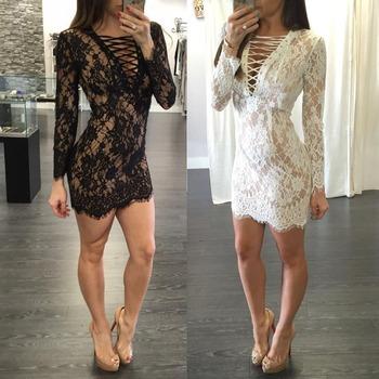 Ddc04 2016 New Fashion Sex Lace Formal Dresslatest Dress Designs