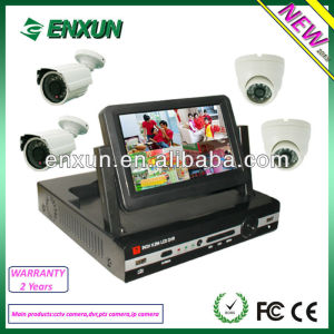 Digital Wireless CCTV Camera Kit Wireless Security Camera Systems with Quad DVR